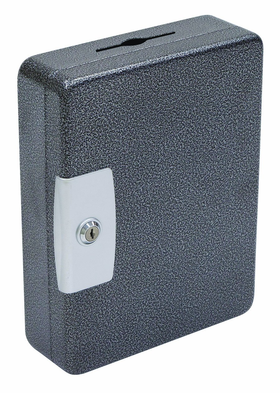 Hercules KK0903-100 Key Locking Key Cabinet, Holds 100 Keys, 9'' x 3'' x 11.87'', Steel, Silver Vein