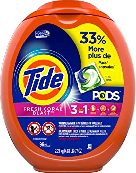 96 Count Tide PODS Laundry Detergent Liquid Pacs