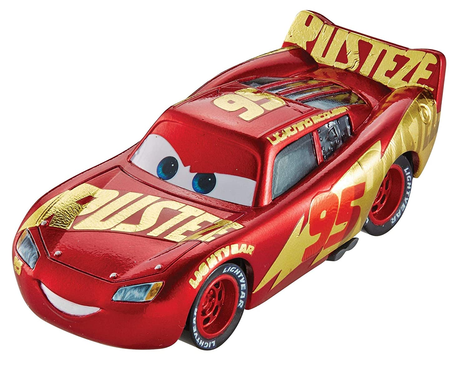 Disney Cars Pixar Die-Cast Lightning McQueen with Wrap Vehicle Mattel DXV45