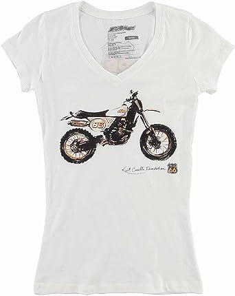 FMF - Camiseta - camisa - para mujer Blanco blanco M: Amazon.es: Ropa y accesorios