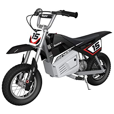 Razor MX400 Dirt Rocket Kids Ride On 24V Electric Toy Motocross Motorcycle Dirt Bike, Speeds up to 14 MPH, Black: Toys & Games