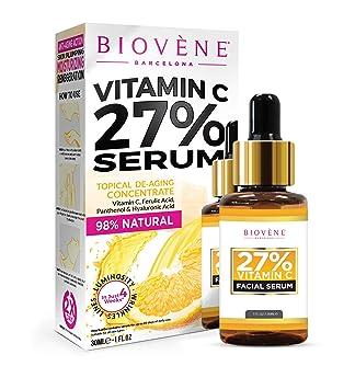 Suero de vitamina C Biovène - Suero de vitamina C para la cara que ayuda a
