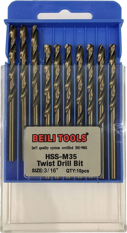 Renewed 5.5mm, 7//32 Pack of 10 HSS M35 Cobalt Twist Drill Bits