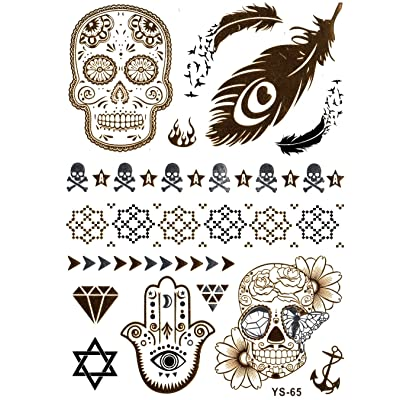 Tatouages Métal pour la peau | Tatouage Métal | Flash Tatouages | La tendance d'Hollywood |