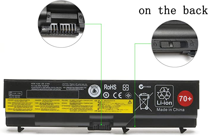 Qiouzw T430 Laptop Battery for Lenovo ThinkPad 70+ T410 T420 T420i T430 T510 T520 T530 W510 W520 W530 L412 L420 L430 L512 L520 L530,Fits P/N: 0A36303 45N1001 0A36302 42T4791 45N1011 45N1005 42T4235