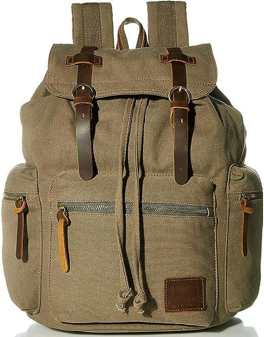 Men Women Vintage Canvas Backpack School Satchel Travel Hiking Bag Rucksack Bag