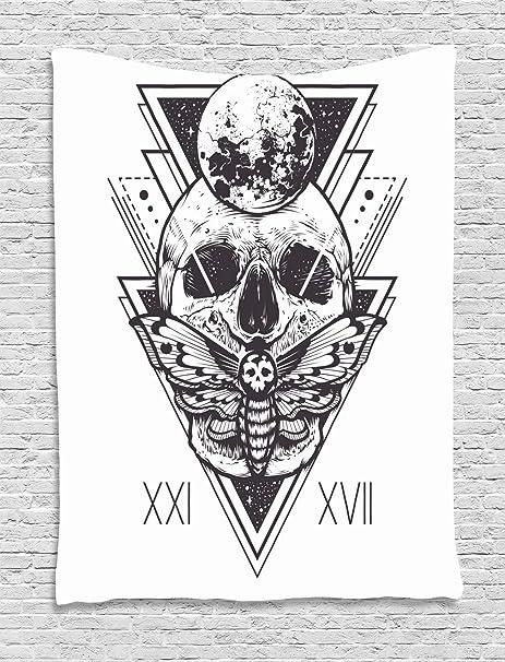 Soefipok Tapiz de la Polilla de la Muerte, cráneo de geometría ...
