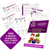 Healthy Living 7 Piece Portion Control Containers Kit (COMPLETE GUIDE + FREE 21 DAY PDF PLANNER + RECIPE E-BOOK included) - Leak proof, Perfect Size, Color-coded