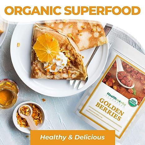 Healthworks Golden Berries (16 Ounces / 1 Pound) | Raw | Certified Organic & Sun-Dried | Gooseberries | Keto, Vegan & Non-GMO | Salads & Smoothies | ...