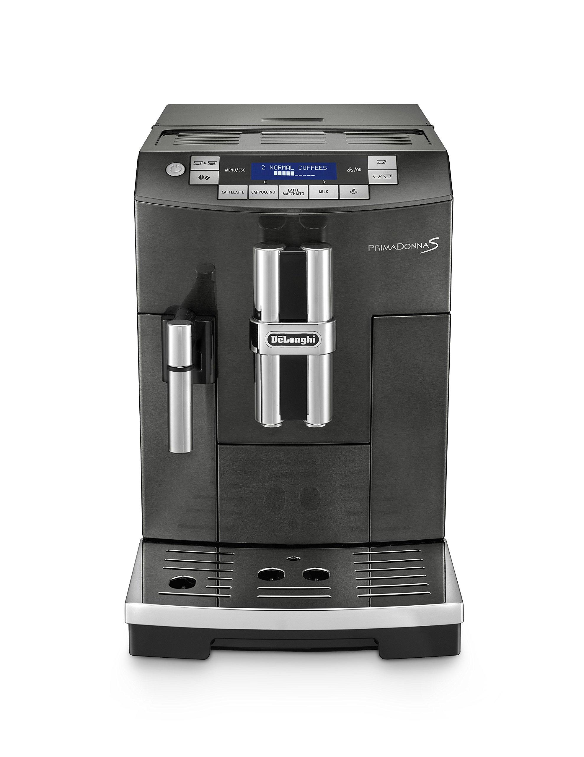 DeLonghi America ECAM28465B Prima Donna Fully Automatic Espresso Machine with Lattecrema System, Black