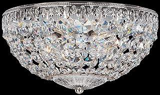 product image for Schonbek 1560-76A Swarovski Petit Crystal Flush Mount Lighting Fixture, Heirloom Bronze