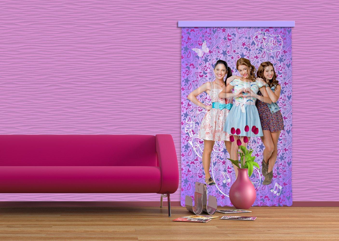 Amazon.de: AG Design Gardine/Vorhang FCC l 4117 Kinderzimmer Disney ...