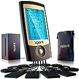 Xpoint Dual Channel Luxury TENS EMS Unit Muscle Stimulator - 24 Modes, 12 Large Electrode Pads - Back, Shoulder, Neck…