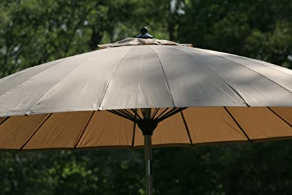 Amazon.com : 9-10u0027 Outdoor Wind Resistant Patio Umbrella with Aluminum Pole  - Tan : Patio, Lawn u0026 Garden