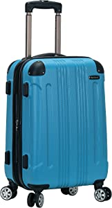 Rockland London Hardside Spinner Wheel Luggage, Turquoise, Carry-On 20-Inch