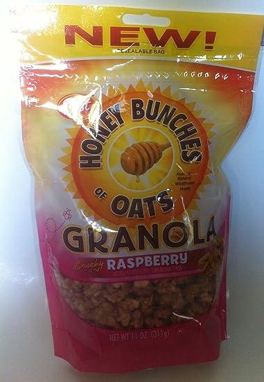 amazon com honey bunches of oats granola crunchy raspberry 2pack