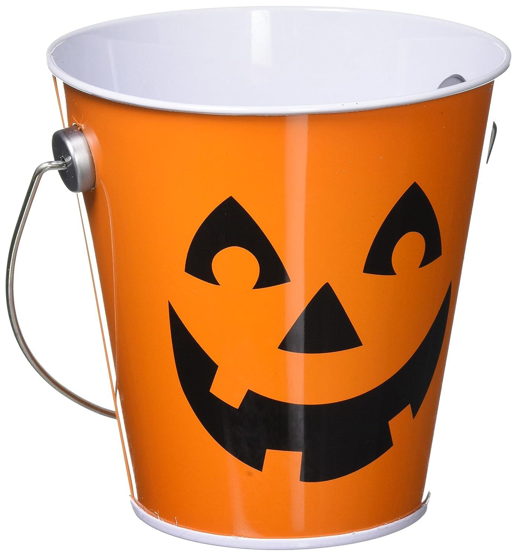 24 Ct TradeMart Inc Jack-O-Lantern Metal Bucket 430242