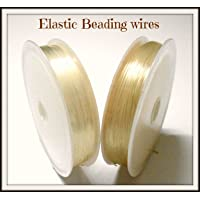 AM Elastic Stretching Cord for Beading, Jewellery Making, Transparent - Pack of 2