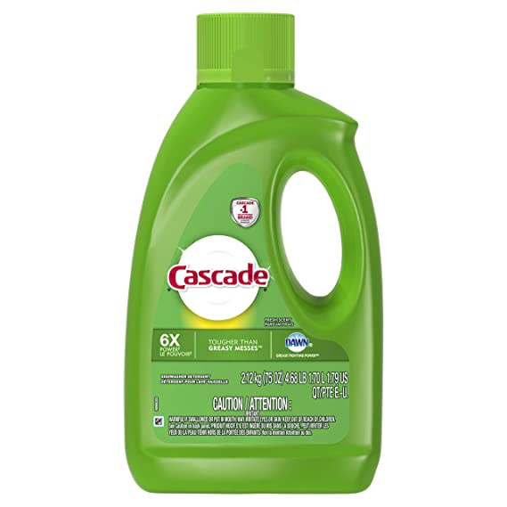 Cascada Gel lavaplatos detergente, Fresh – 75 Oz: Amazon.com ...