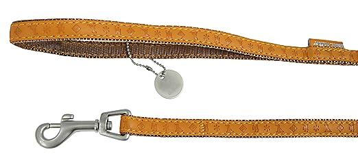 1413aff18216 Zolux Mac Leather Laisse pour Chien Jaune 25 mm  Amazon.fr  Animalerie