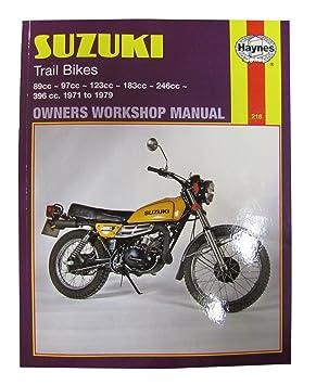 haynes manual suzuki ts100 ts125 73 78 ts185 71 78 ts250 74 78 each rh amazon co uk Suzuki TM 125 suzuki ts100 repair manual