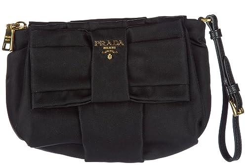 Prada bolso de mano pochette mujer en Nylon nuevo negro: Amazon.es: Zapatos y complementos