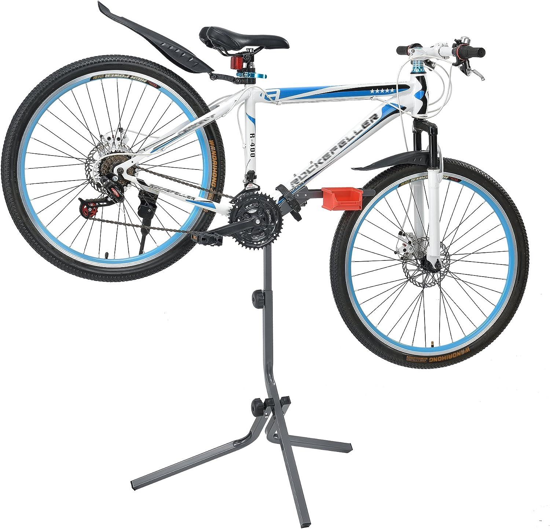 Neu.Haus] Soporte de Bicicleta para reparación - Gris Rojo - Marco ...