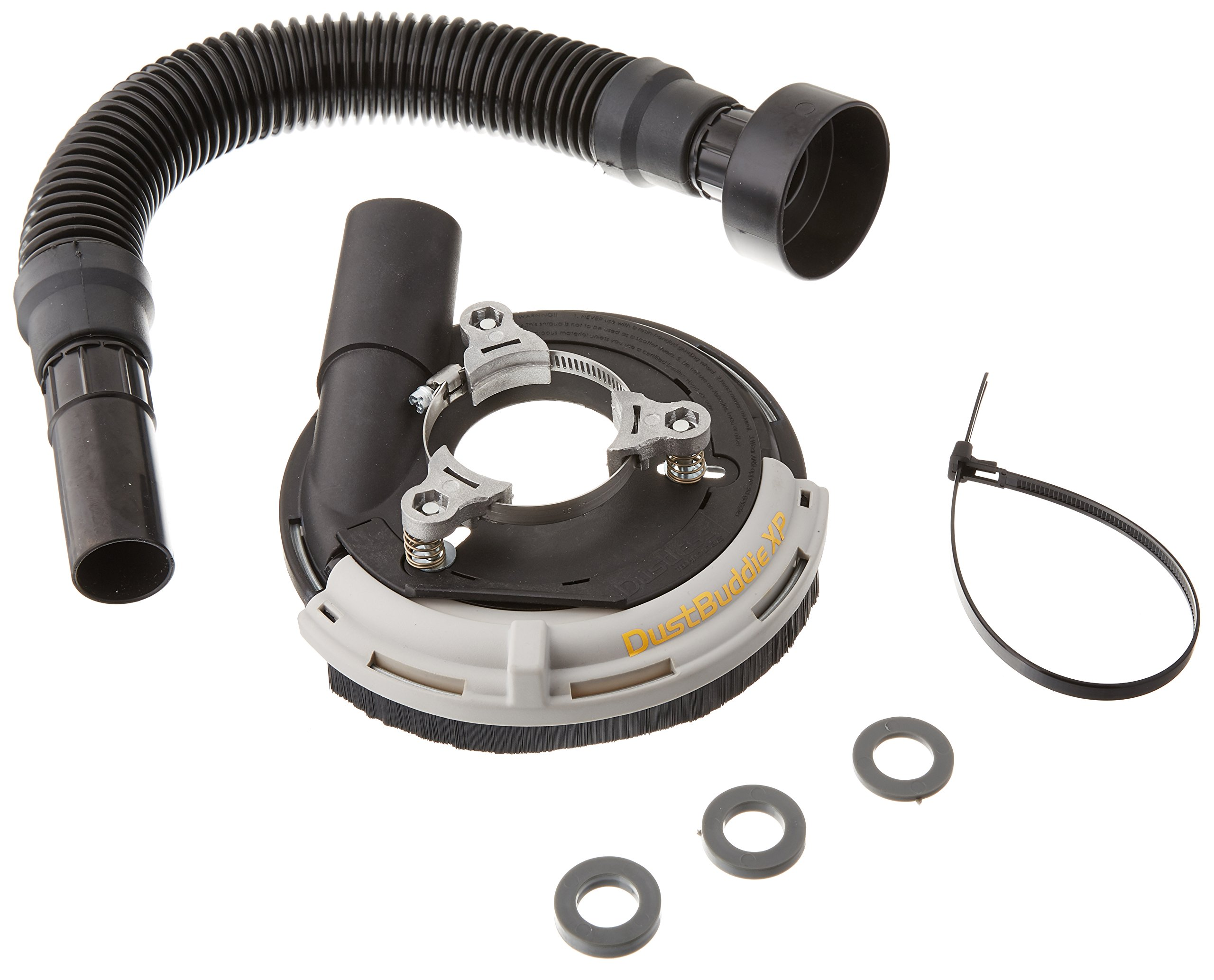 Dustless Technologies D5835 DustBuddie XP Universal Dust Control Attachment for Grinders, 5'', Black/Grey by Dustless Technologies