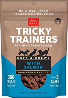 product image for Cloud Star Tricky Trainers Chewy Dog Treats – Whole Grain Soft for Training, 14 oz Salmon, 2 PACK