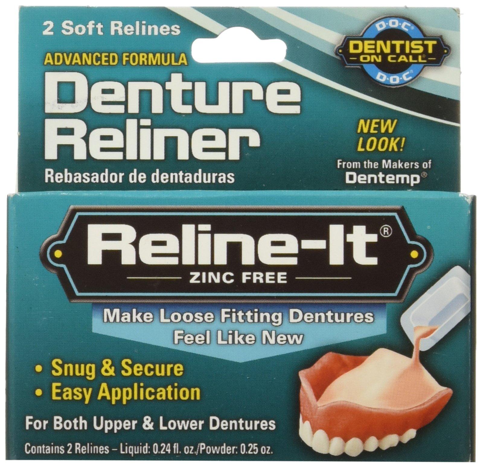 D.O.C. Reline-It Advanced Denture Reliner Kit (Pack of 2)