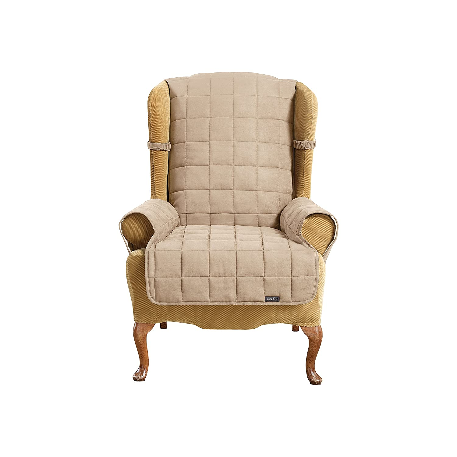 Amazon Sure Fit Soft Suede Waterproof Wing Chair Slipcover