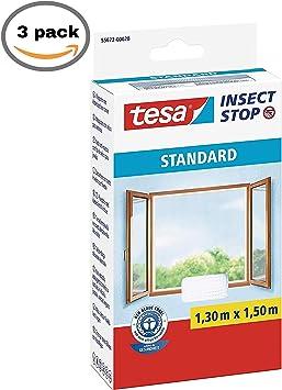 Pack 3 x TESA 55672-00021-02 Malla Standard para ventanas 1,3mx1 ...