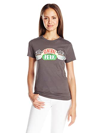 d32b07031 Amazon.com: Goodie Two Sleeves Juniors' Central Perk Coffee Place Graphic  T-Shirt: Clothing