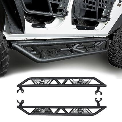 U Box Jeep JK Black Blade Side Step Nerf Bars For 2007 2018 Jeep