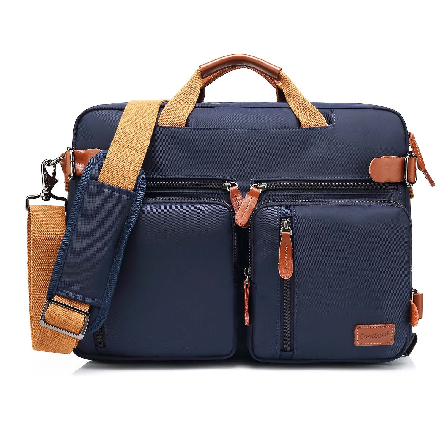 Amzbag Convertible Backpack Laptop Messenger Bag Book Bag School Bag Shoulder Bag Laptop Case Handbag 15.6 inches Business Briefcase Multi-Functional Travel Rucksack for Men/Women(Blue)