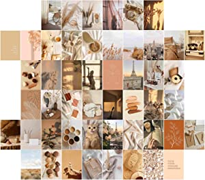 PONPANI 50 Pieces Room Decor for Bedroom Decor, Wall Decor Posters Collage Kit BOHO Aesthetic Photo Collection for Teens and Young Adults, Wall Art Collage Kit, 4x6inch Photo