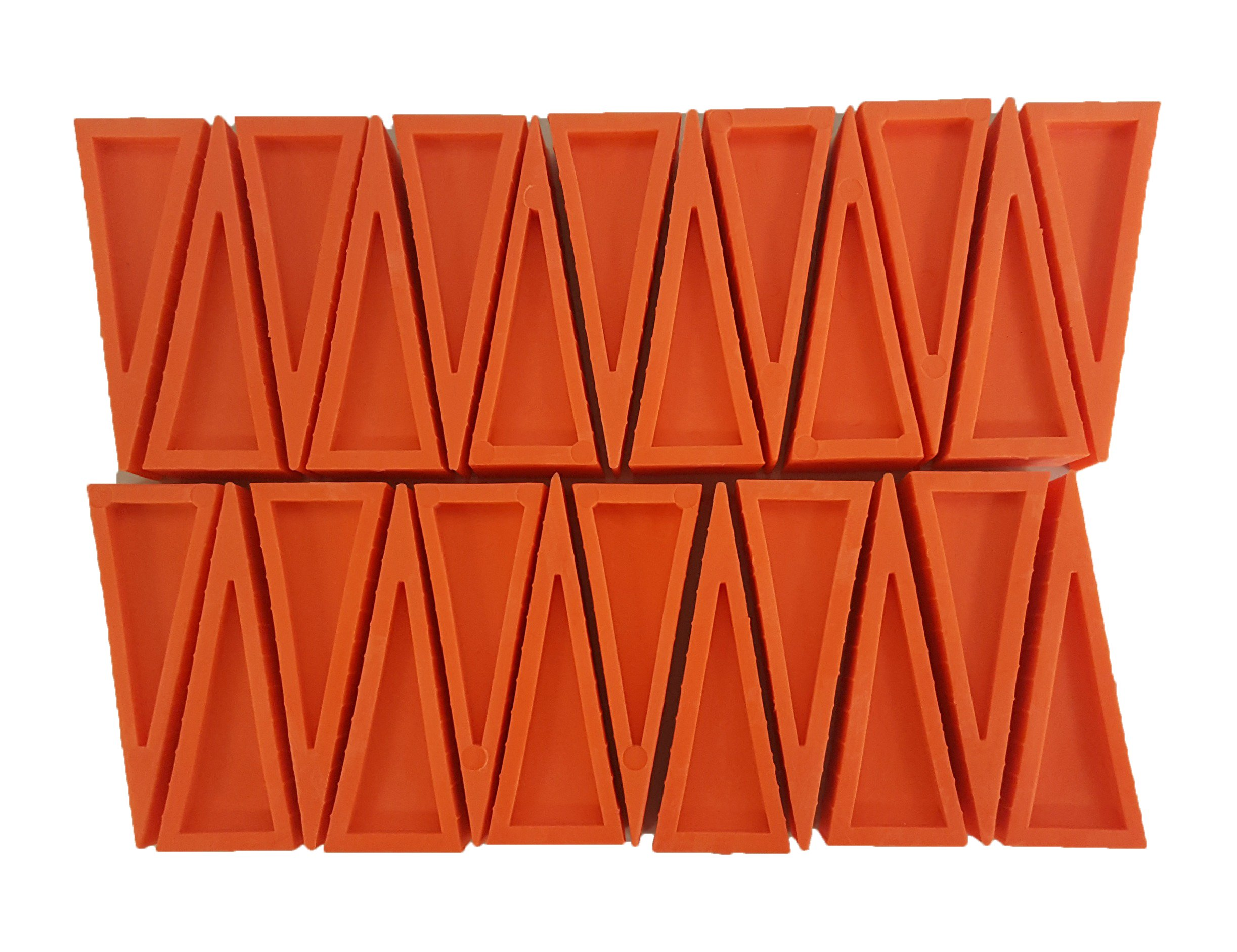 LINE2design Premium Door Sprinkler Wedges - Firefighter Door Stopper - Heavy Duty Plastic Door Stoppers - Firefighter Rubber Doorstops Safety Doors Opener (Pack of 25, Orange)