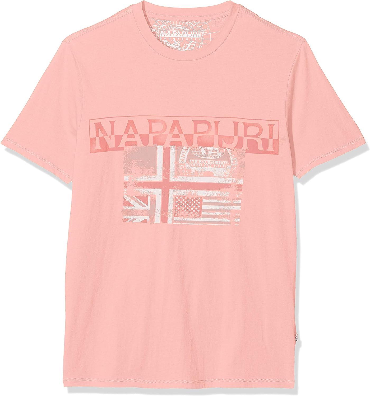 Napapijri Sawy Pale Pink New Camiseta para Hombre: Amazon.es: Ropa y accesorios