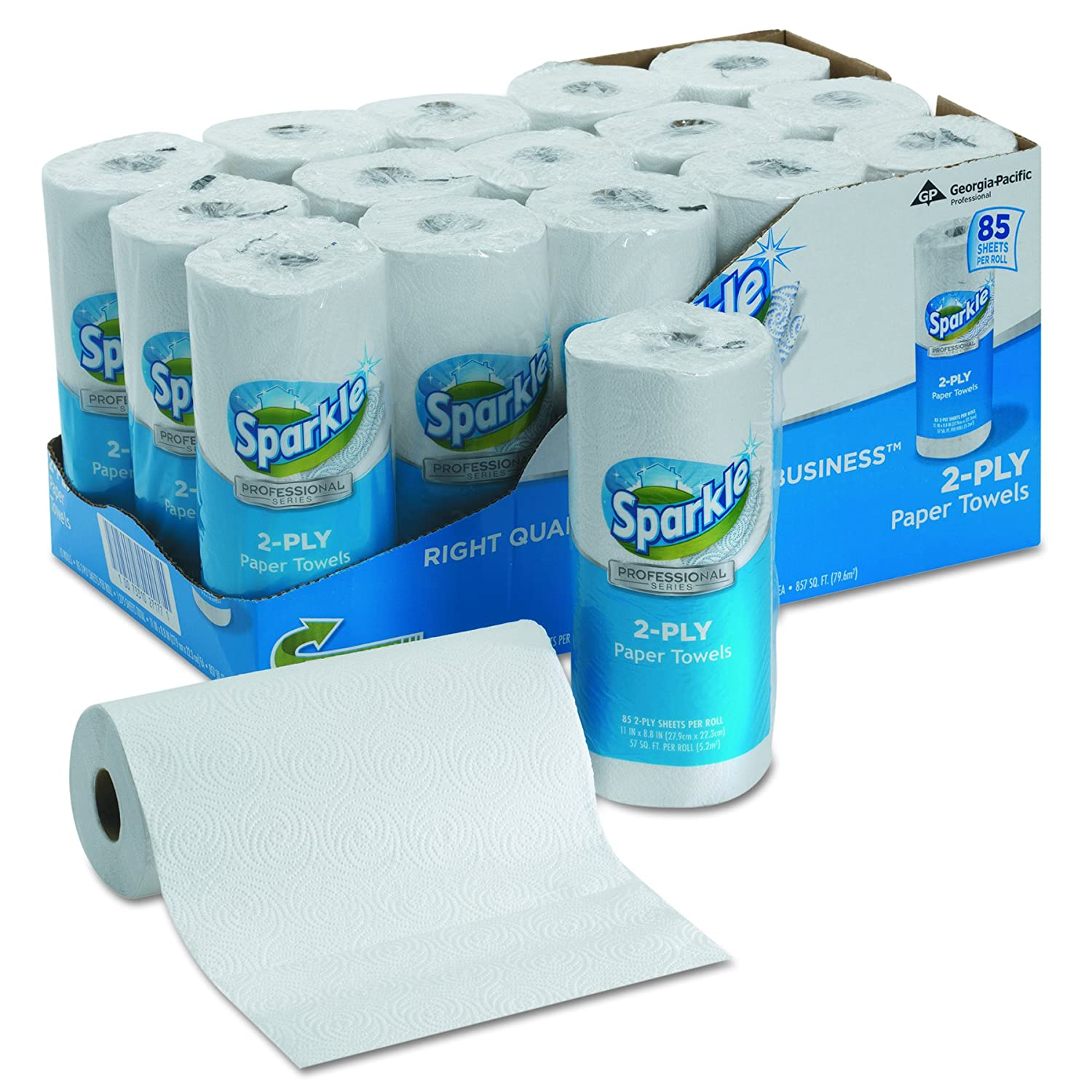 Georgia-Pacific Sparkle 2717714 Perforated Roll Paper Towels (WxL ...