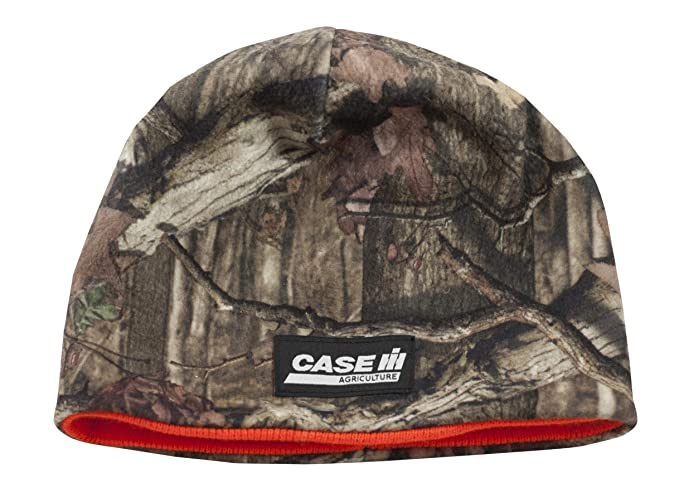 64bae4878592e Image Unavailable. Image not available for. Color  Case IH Reversible Camo    Blaze Orange Beanie ...