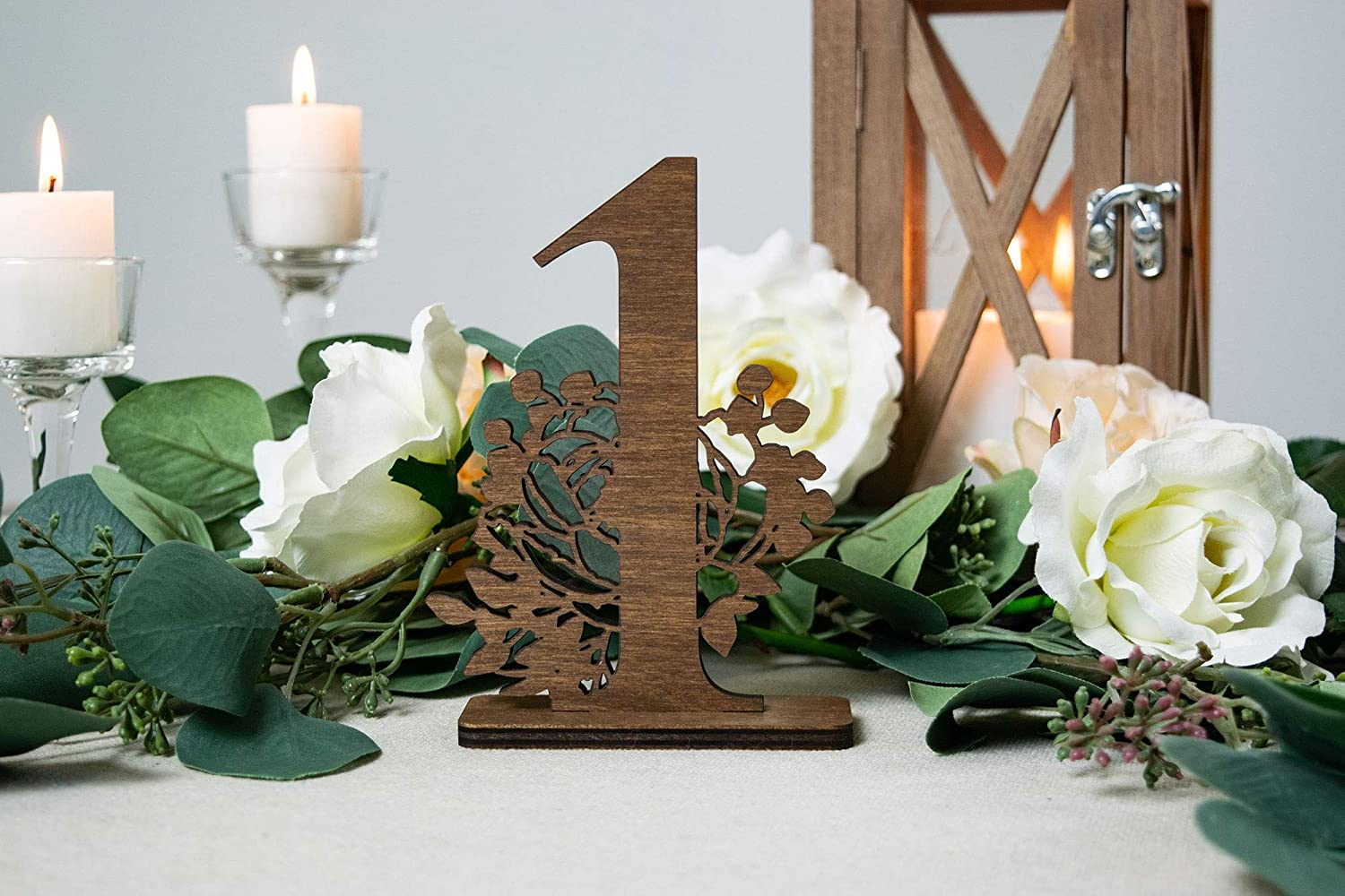 Amazon.com: Wedding Table Numbers, Floral Wedding Decorations