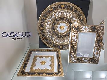 VERSACE. I Love Baroque Set 3 Piezas Placa 33 cm + Cup cm 22 + PORTAFOTOGRAFIE 23x18 cm: Amazon.es: Hogar