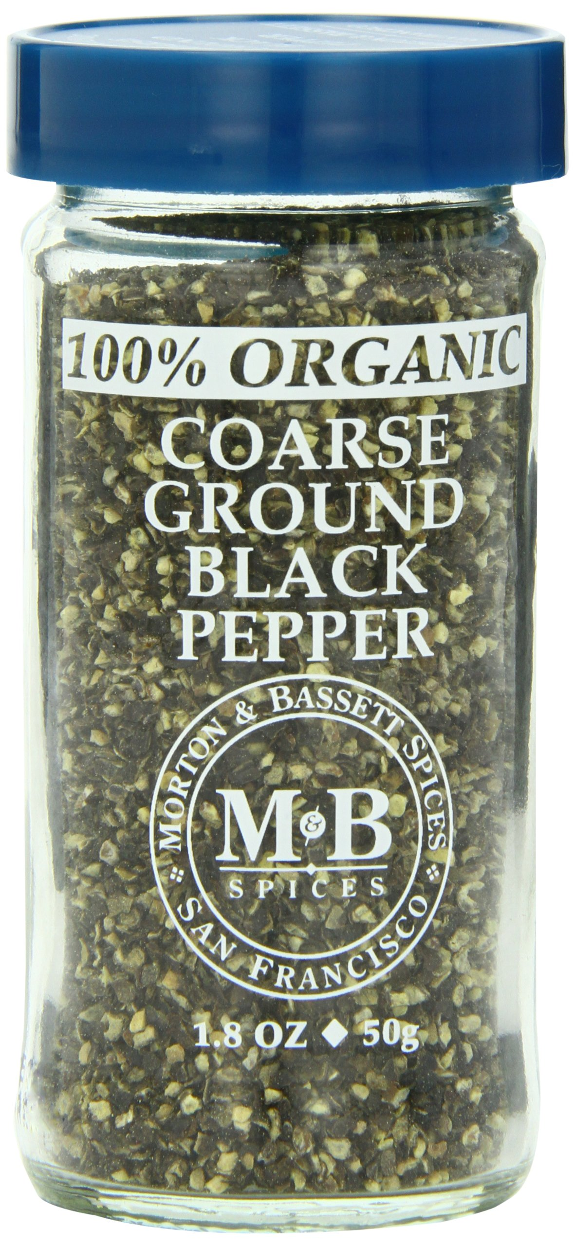 Morton & Basset Spices, Organic Coarse Ground Black Pepper, 1.8 Ounce (Pack of 3)