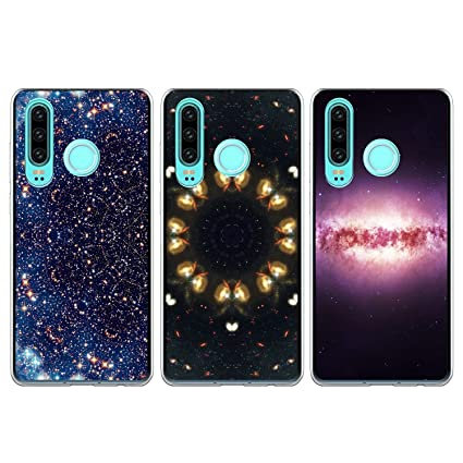 Amazon.com: Huawei P30 Lite Funda, 3 pcs colorido patrón de ...