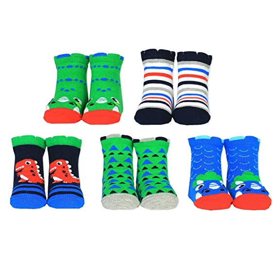 Cucamelon Jack the Pilot 5 Pairs of Striped Socks 1-2 Years Toddler Gift Boxed