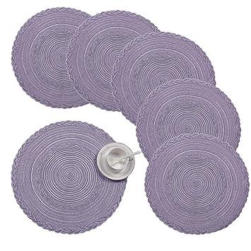 Shacos Cotton Runde Tischsets Set Von 638cm Runde Gewebte Platzsets