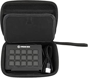 Casematix Travel Case Compatible with Elgato Stream Deck and Adjustable Stand, Game Capture Hd60, Chat Link and Video Game Accessories