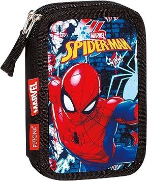 Spiderman Plumier Triple, Estuche con 45 Piezas, niño: Amazon.es: Equipaje
