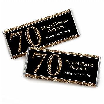 Amazoncom Adult 70th Birthday Gold Candy Bar Wrappers Birthday