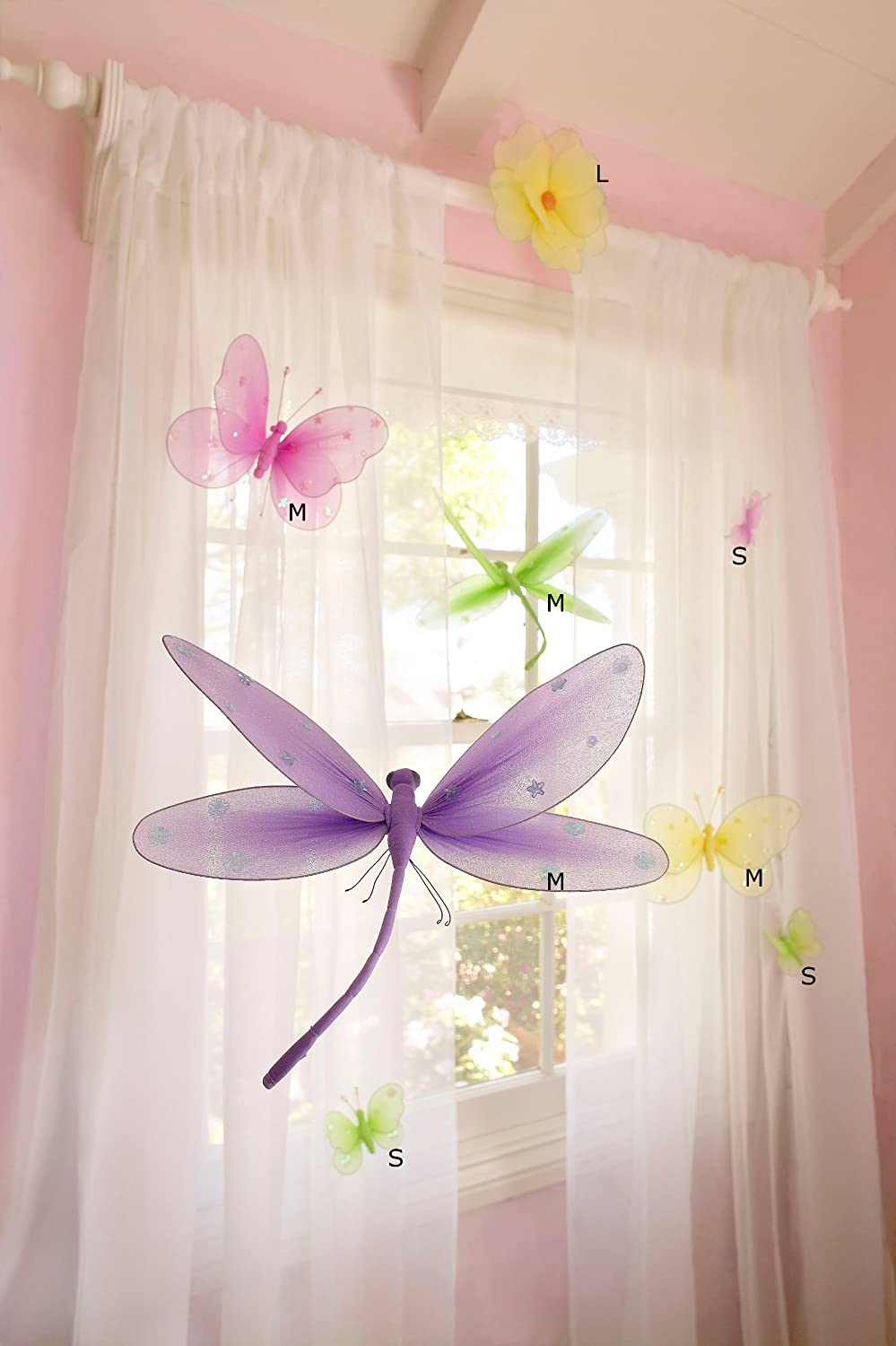 Dragonfly bathroom decor - Amazon Com Sequined Hanging Butterfly 3d Wall D Cor Color Green Size Small Decorative Hanging Ornaments Baby